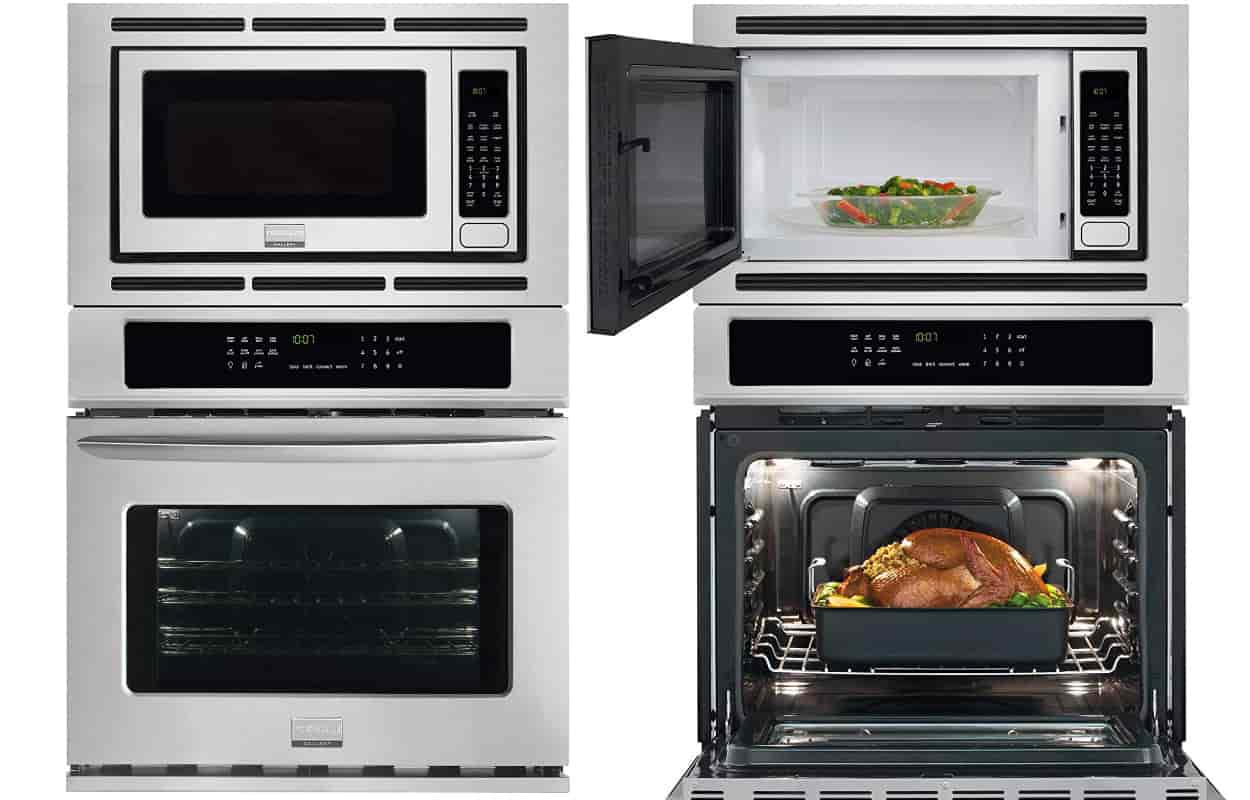 Double Oven With Microwave Above