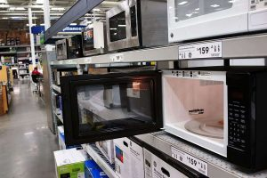 How many microwaves are sold each year?